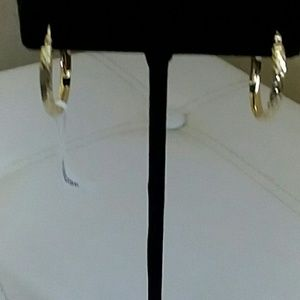 EARRINGS, 10K GOLD, 1""
